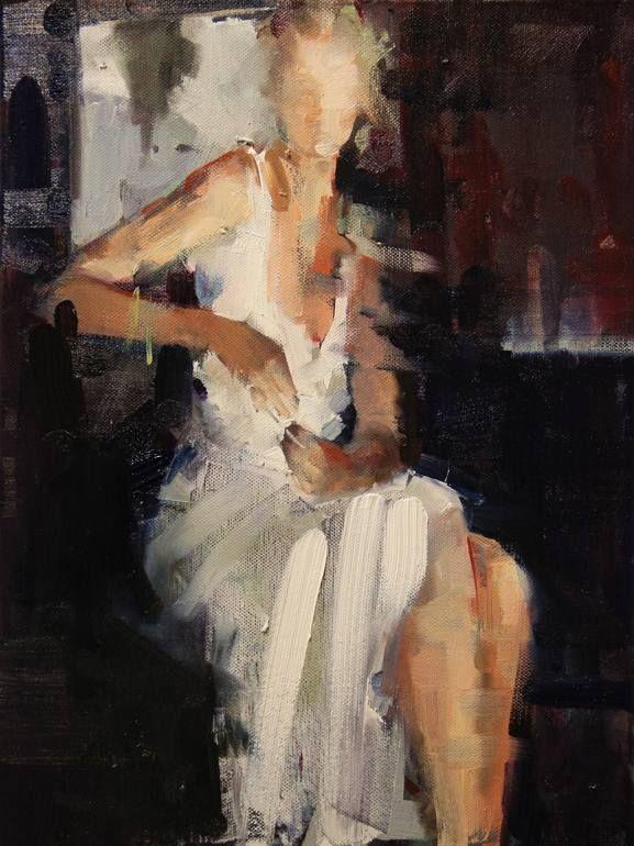 "Saatchi Art Artist: Fanny Nushka Moreaux; oil 2014 Painting ""White Heat (SOLD)"""