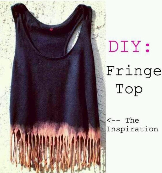 Diy fringe top