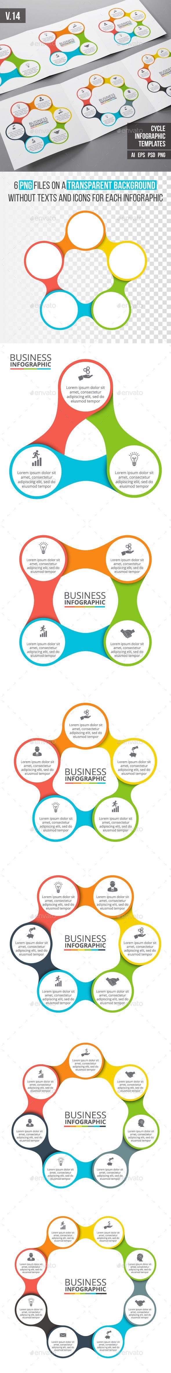 Infographics Template Set - PSD, Transparent PNG, Vector EPS, AI Illustrator