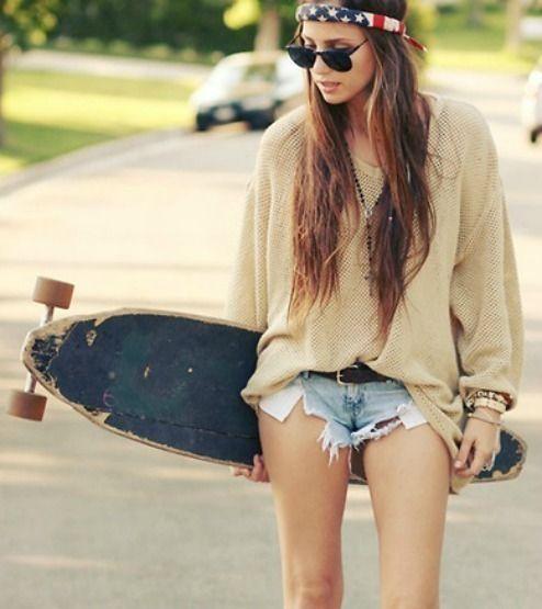 skater fashion photography | american flag, american girl, girl, hair, photography