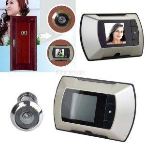 63% Discount 2.4 LCD Visual Monitor Door Peep Hole Video Electric Door-Eye Order: http://gr.pn/21aijRJ