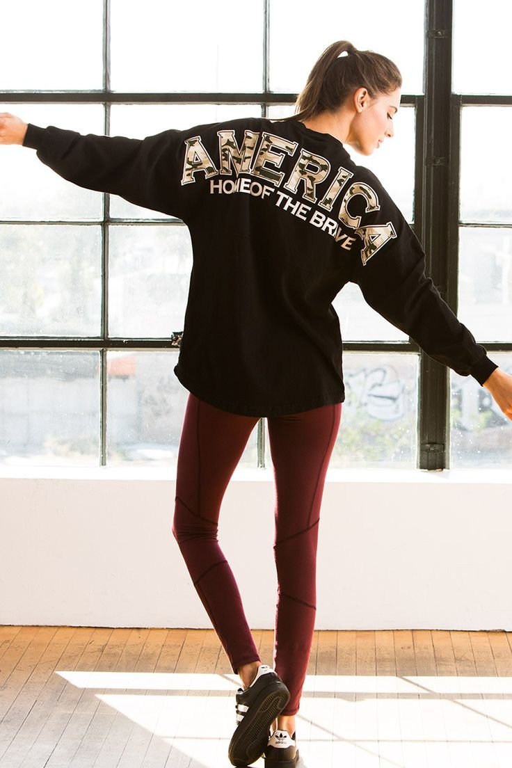 America Home of the Brave - with camouflage {Preppy Print} Classic Spirit Jersey®