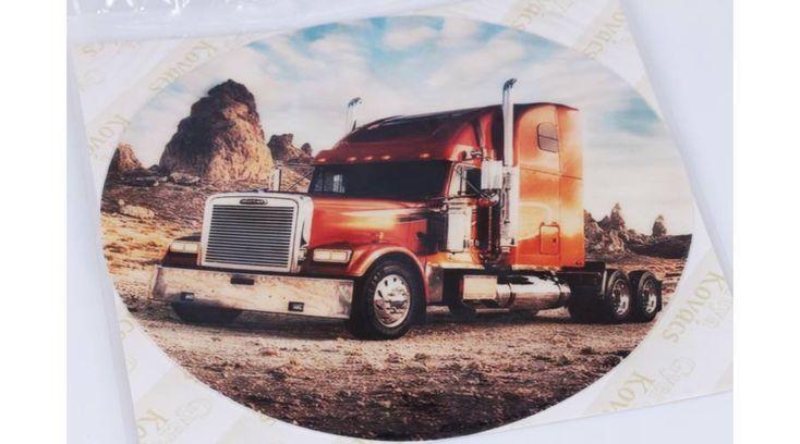 Bordó kamion a sivatagban tortaostya - Süss Velem.com