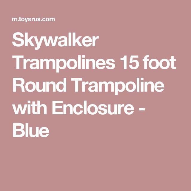 Skywalker Trampolines 15 foot Round Trampoline with Enclosure - Blue