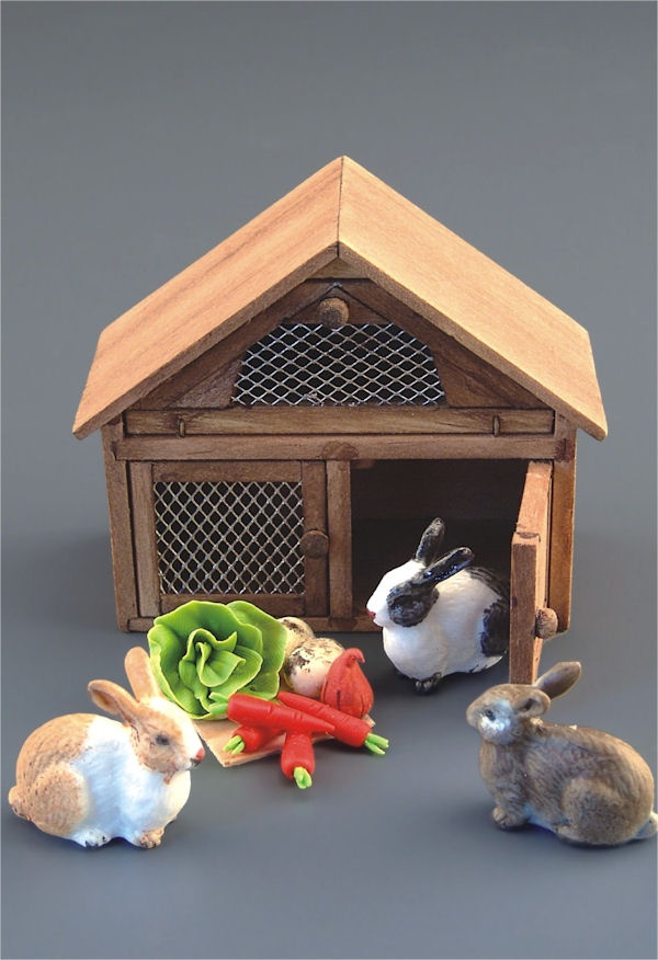 42 best polymer clay dollhouse miniatures easy to make for How to make a rabbit hutch from scratch