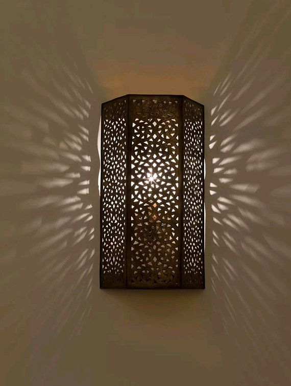 Wall Light Moroccan Sconce Vintage Fes Wall Lights Moroccan Etsy In 2020 Brass Wall Light Wall Lights Wall Light Fittings