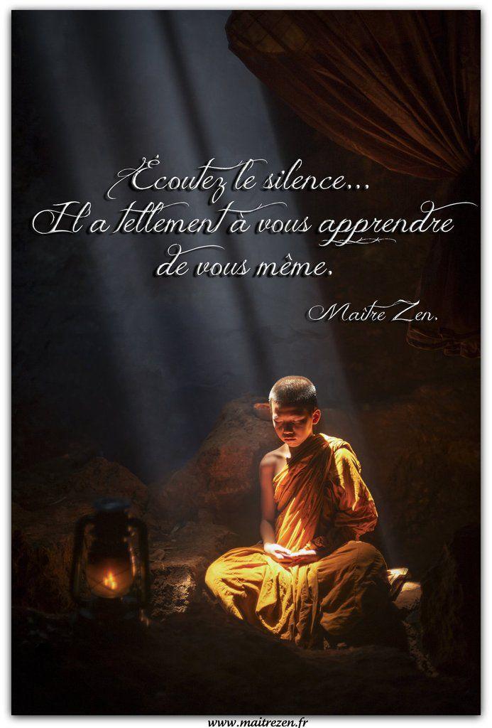 """Tweet """"Écoutez le silence...Il a tellement à vous apprendre de vous même."""" Maître Zen. Rejoignez-moi sur Facebook ! https://www.facebook.com/lapagedemaitrezen en cliquant sur j'aime ;-) Merci d'avance!"""