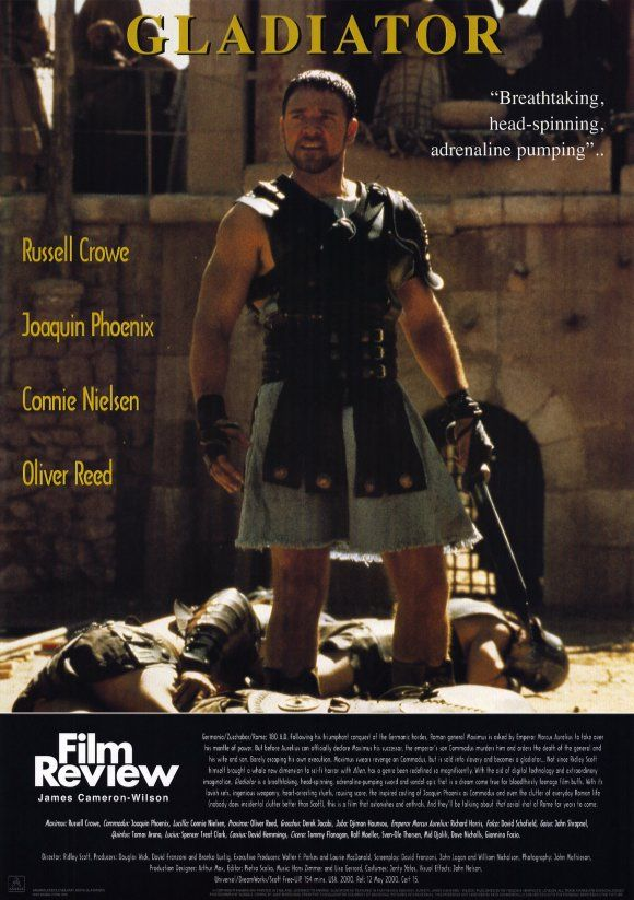 essay on gladiator film Analysis of the gladiator trailer trailers are essential to films for a genuine number of reasons they enhance a film and present it to the mark audience, to be able to motivate them to view the film.