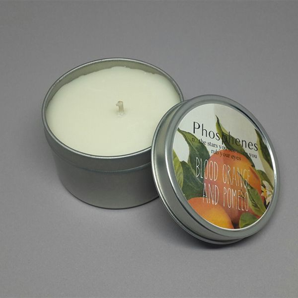 Inartisan Soy Candle in Travel Tin - Blood Orange + Pomegranate | Krinkle - Homewares & Gifts