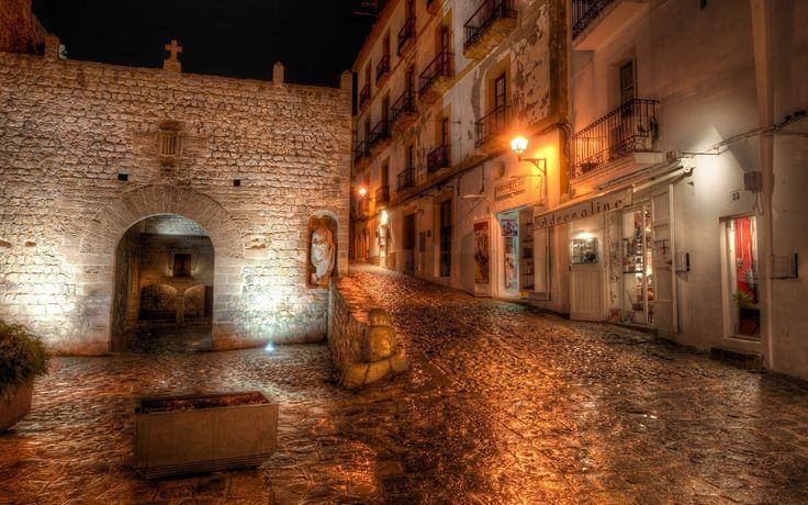 Фонари, spain, Ibiza, night, ибица, испания, ночь обои, картинки, фото