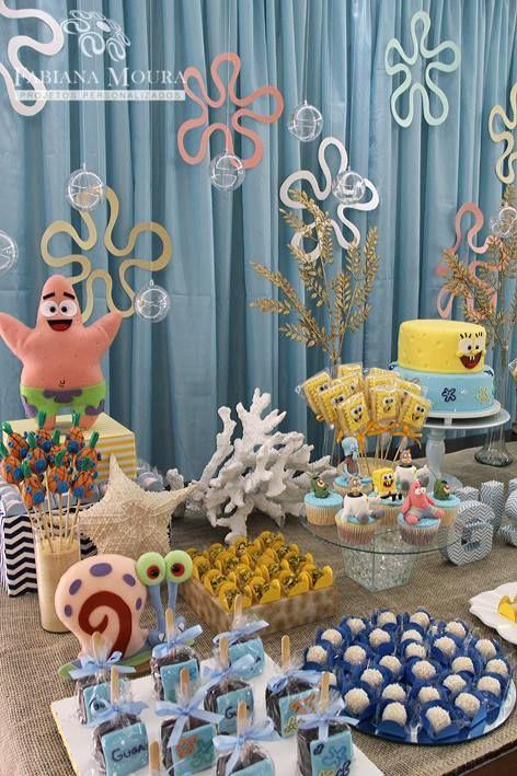 Little Wish Parties | Sponge Bob Birthday Party | https://littlewishparties.com