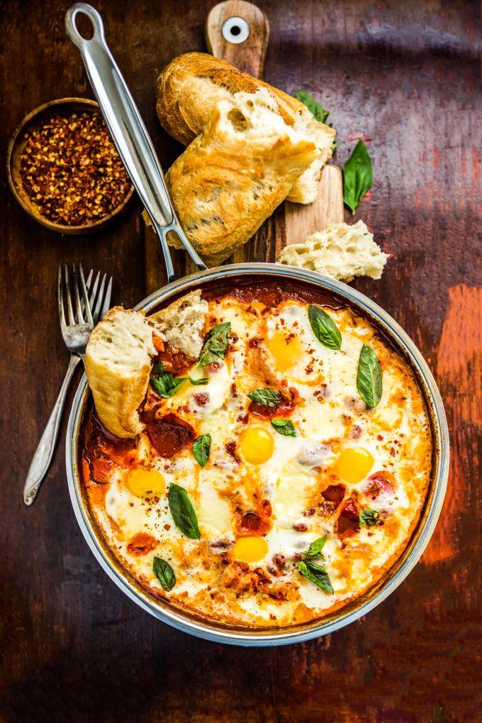 Eggs in Cheesy Purgatory