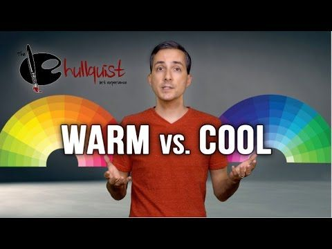 "In this video I try to explain the difference between ""warm"" and ""cool"" colors. Warm colors are Reds, Oranges, and Yellows.... hues that remind us of sunshin..."