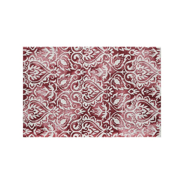 Momeni Serene Seraphina Damask Rug, Red Other, Durable