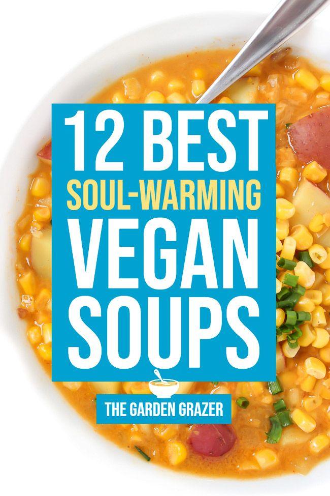 12 Best Soul Warming Vegan Soup Recipes The Garden Grazer Vegan Soup Recipes Vegan Soup Healthy Recipes