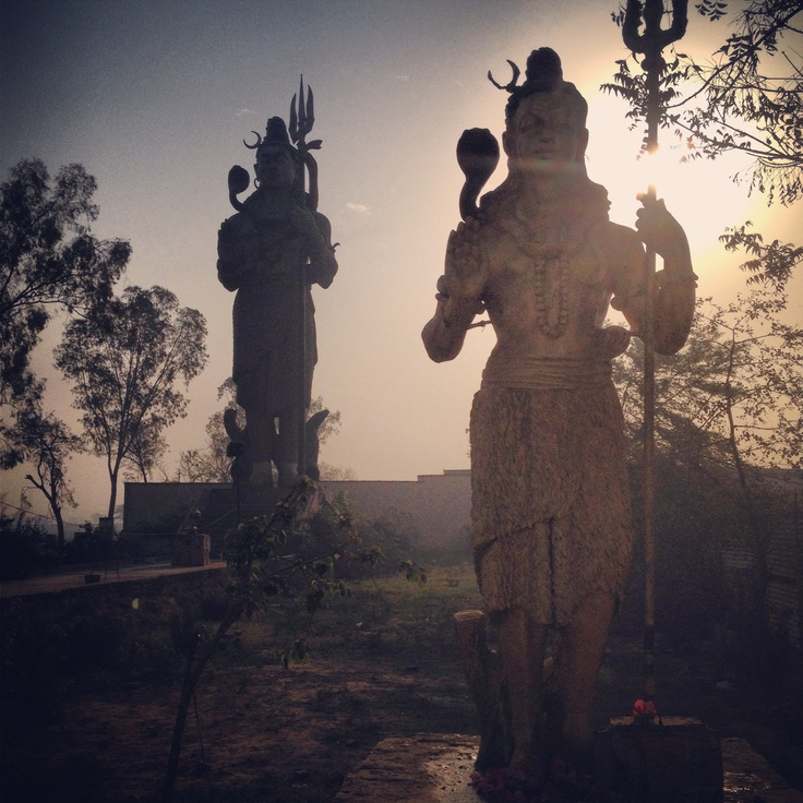 #Sunshine with a Giant Lord Shiva #statue near #NewDelhi