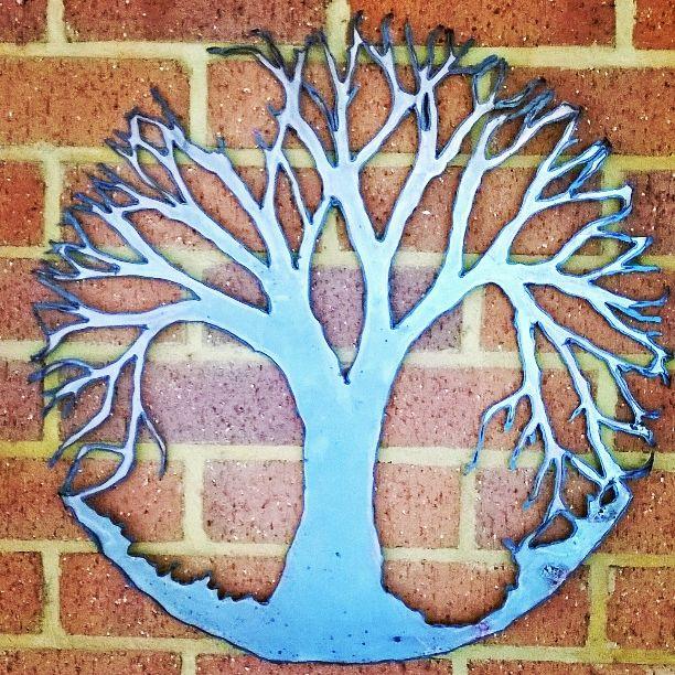 Plasma cut by hand Tree of Life.