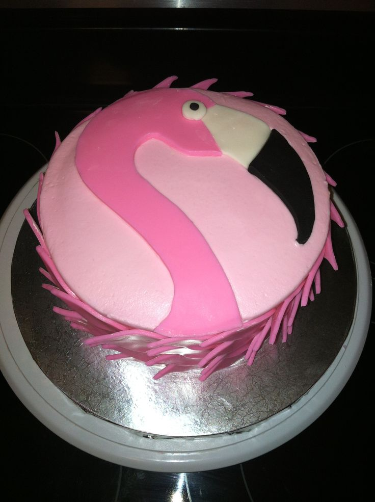 - Chocolate cake with raspberry filling. Birthday girl loved Flamingos.