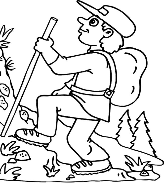 mountain climber coloring pages - photo#3