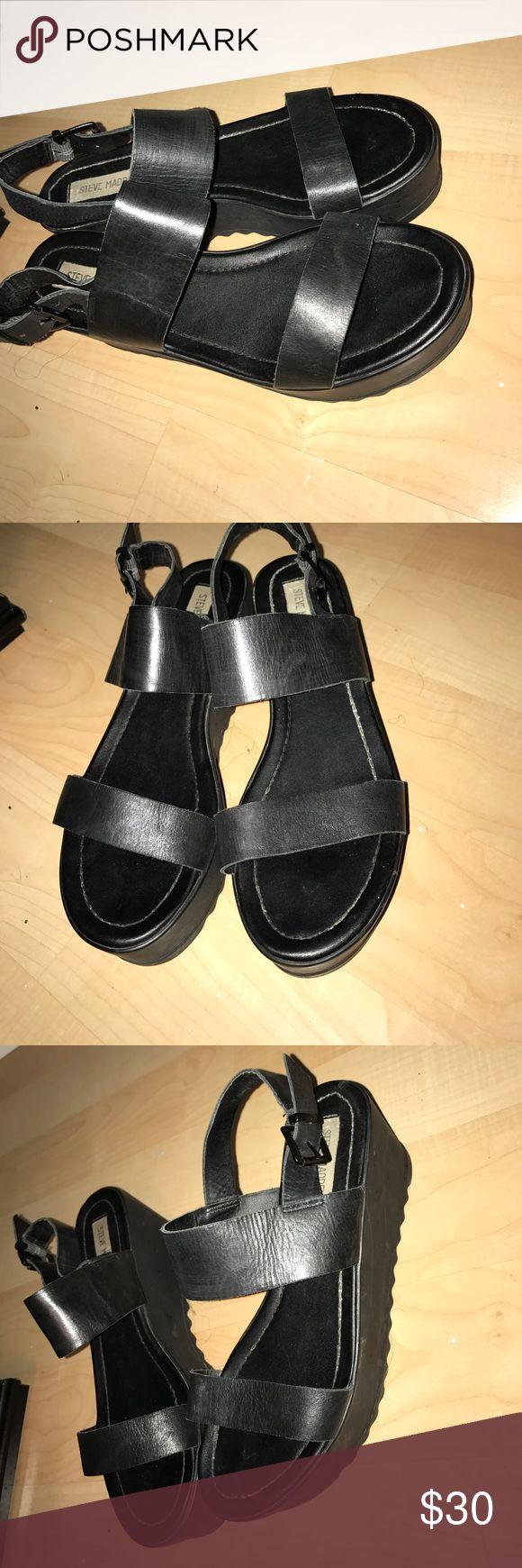 Steve Madden Platform sandals Black platform sandals Steve Madden Shoes Sandals