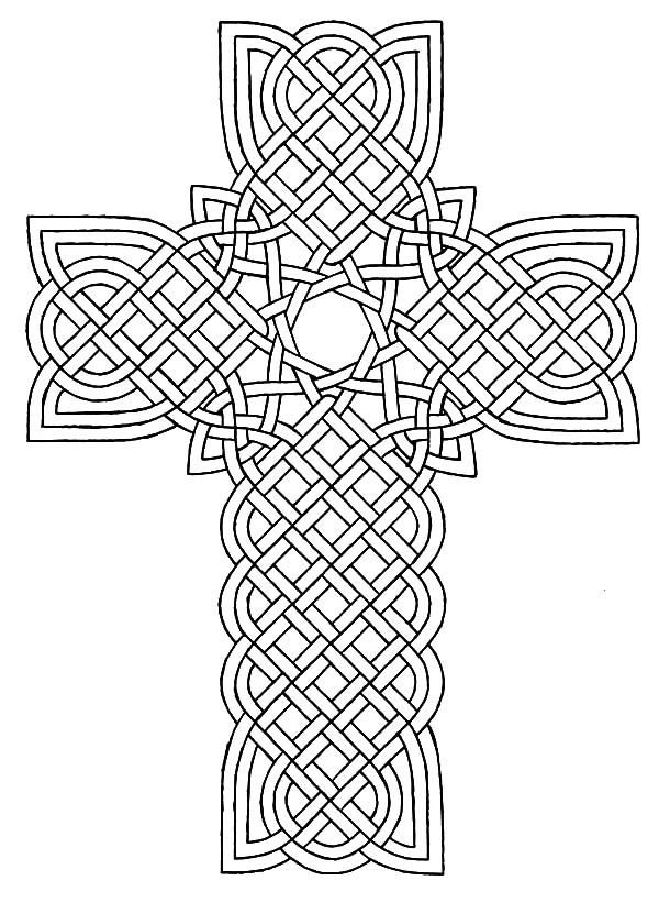 celtic cross celtic cross design coloring pages - Design Coloring Pages