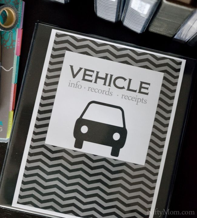 Vehicle Documents Binder Organization Free Printables In 2020 Binder Organization Car Chevrolet Vehicle Maintenance Log