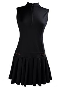 SCHRIFFEN Leah II style golf dress in black-Stylish golf clothing for women
