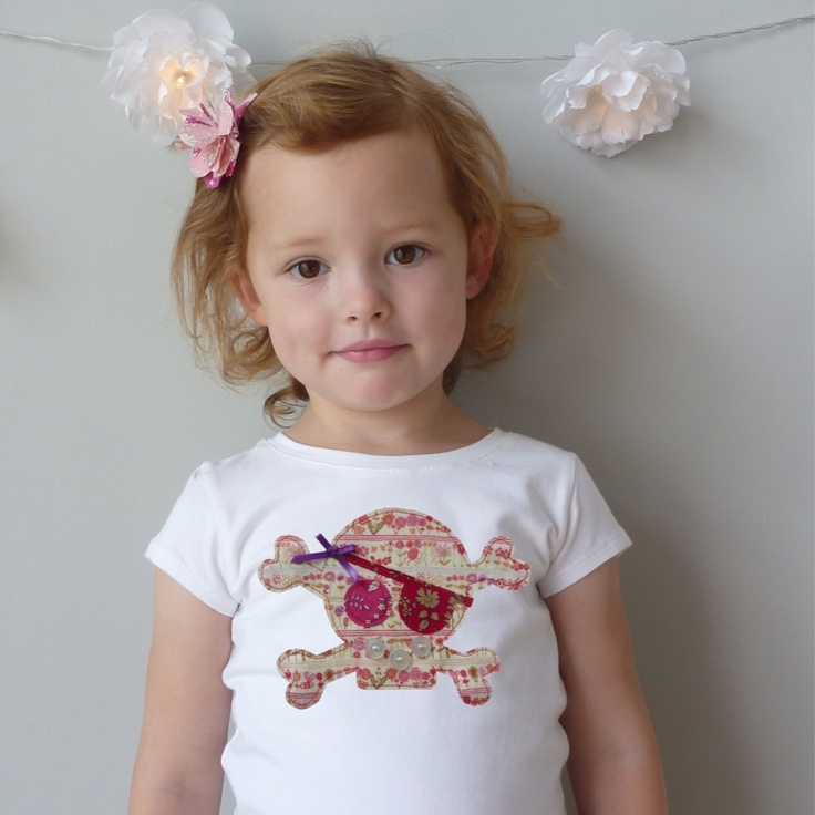 Image of Halloween Pirate Princess Little Girl T-Shirt £20.00