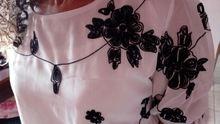 Bordado Camisa Mulheres Tops de Verão Floral Preto White Slim Chiffon Blusa Marca Qualidade Plus Size Casuais Arco Meia Camisa de Manga Loja Online | aliexpress móvel