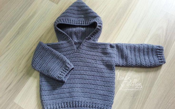 Crochet baby sweater free pattern patrón gratis