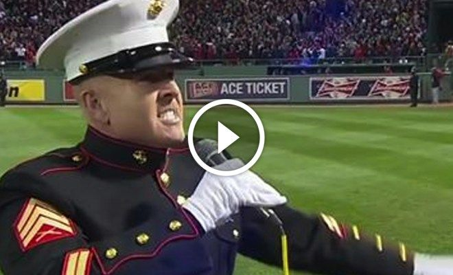 THIS IS MY AMERICA -Marine leaves 30,000 people speechless when he does THIS. At 1:48 — GOOSEBUMPS -