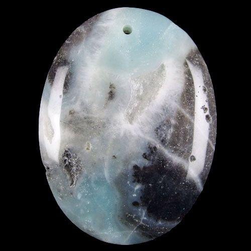 Natural amazonite jasper pendant stone 008 by NaturalMineralsShop