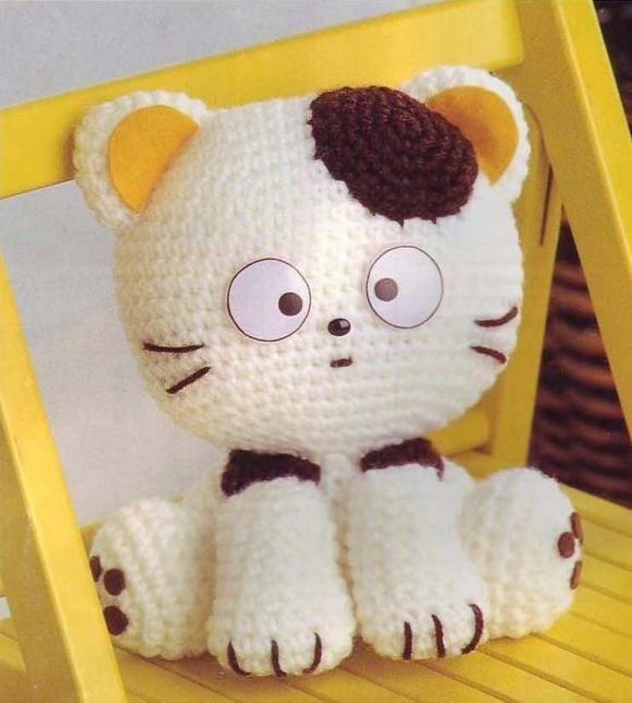 В этом посте вы найдете схему вязания кота в лучших традициях амигуруми.