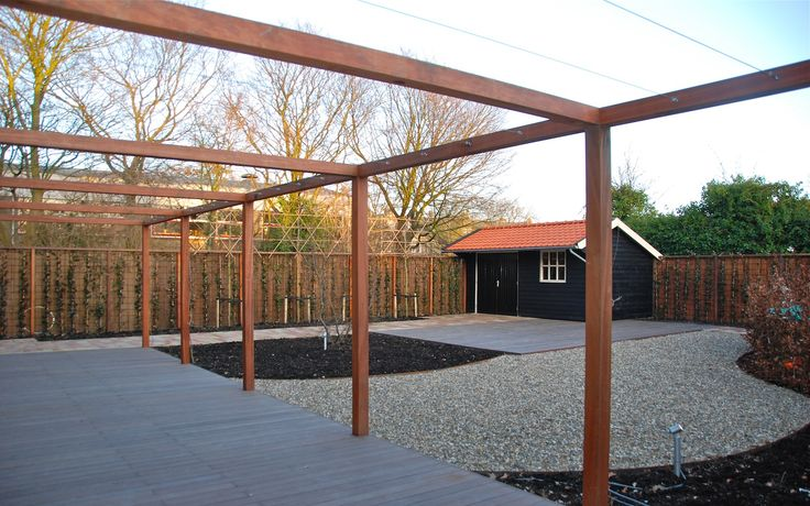 17 best images about pergola on pinterest gardens terrace and backyards - Pergola hout bedekt ...