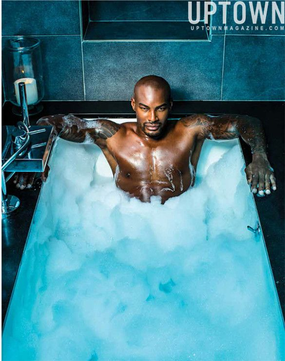 "A GENTLEMAN's RETURN: Tyson Beckford TAKES A BATH & Then SUITS UP In Uptown Magazine's ""Best For Men"" Fall Issue! ~ GossipWeLove.com Your Celebrity News and Hip Hop News Blog"