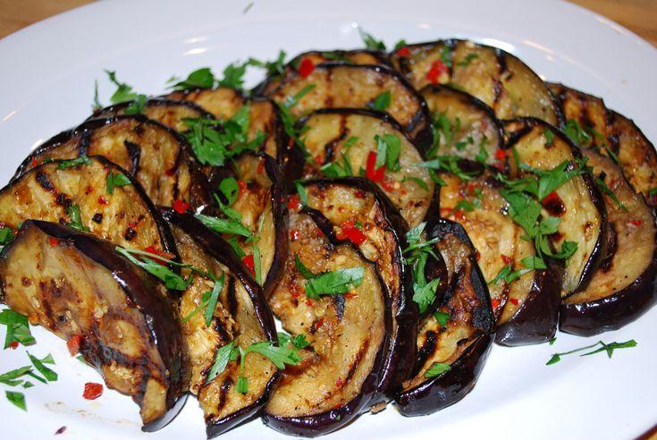 Grilled Marinated Eggplant