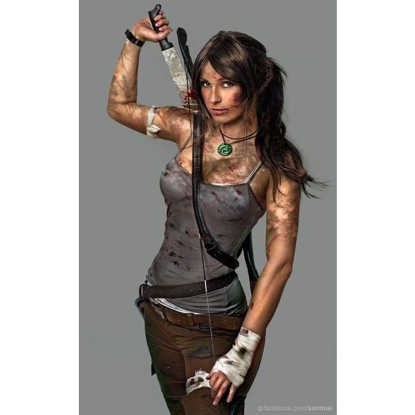cosplay ❤ liked on Polyvore featuring costumes, lara croft cosplay costume, lara croft halloween costume, role play costumes, lara croft costume and cosplay halloween costumes