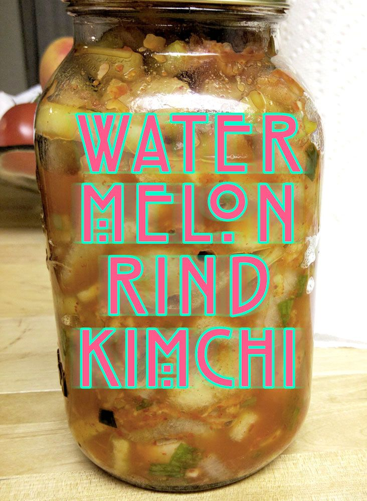 Don't throw away your watermelon rinds, use them to make kimchi!