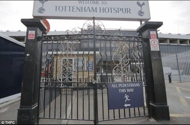 The famous black gates at the entrance of White Hart Lane