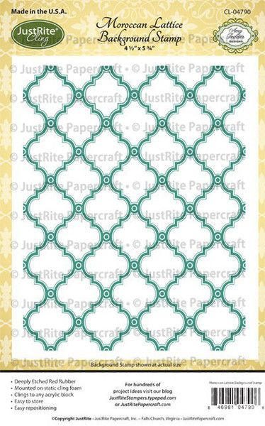 Moroccan Lattice Background Cling Stamp