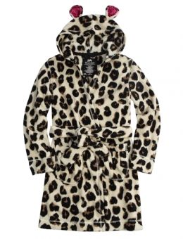 Cheetah Fleece Robe