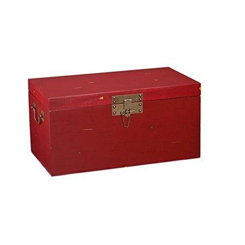 Accent Contemporary Rustic Rectangle Coffee/ Cocktail Table  Punch up the style in your home with this functional Upton #Home #cocktail/ #coffee #trunk. The distressed red finish and antique gold handles with pin latch decorative accents give this cocktail table a fun, rustic charm. Place in your living room to stow away games, blankets, or extra pillows. Large trunk space makes this cocktail table the perfect storage solution for any room with transitional to contemporary style and décor.