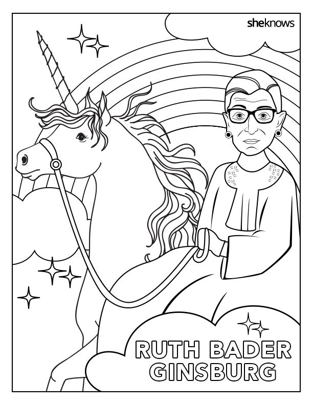 The Notorious RBG Coloring Book Of Our Feminist Dreams Free Printable Pages