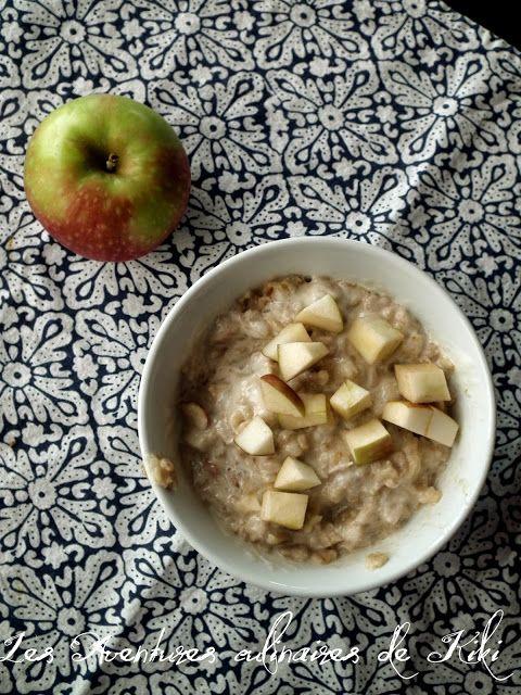 Faits avec amour /Les Aventures culinaires de Kiki: Gruau aux pommes, à la cannelle et aux pacanes vite prêt