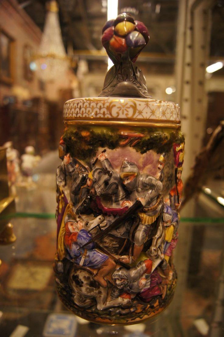 Кружка  Год: 19 век  Высота: 25см  #антиквариат #кружка http://antikvariat-vintage.ru