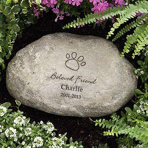 In Loving Memory Personalized Memorial Pet Stone