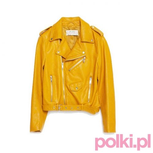 #zara #ramoneska #bikerjacket #yellow #kurtka #polkipl