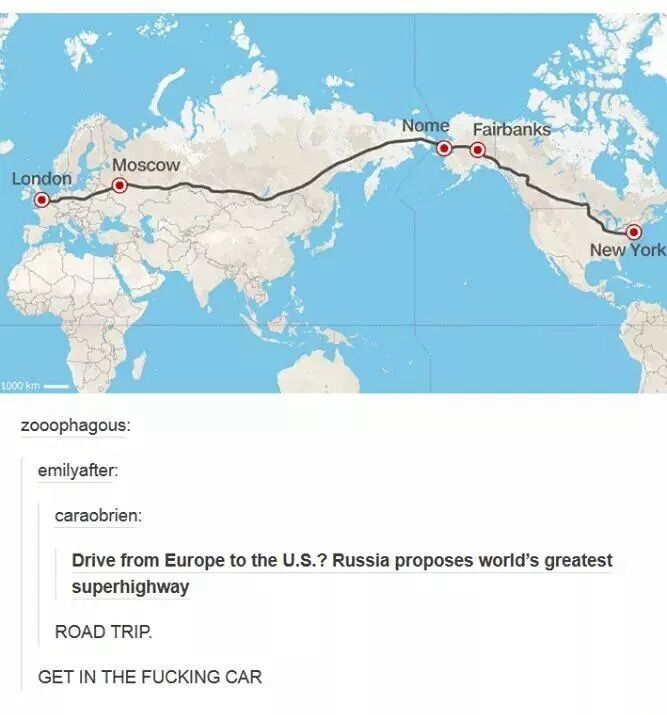 Us Road Trip Ideas: Of Course Russia Proposed This. Look How Much Money They