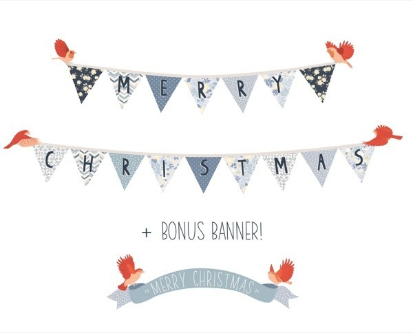 Christmas Banner Wall Decals by Mae