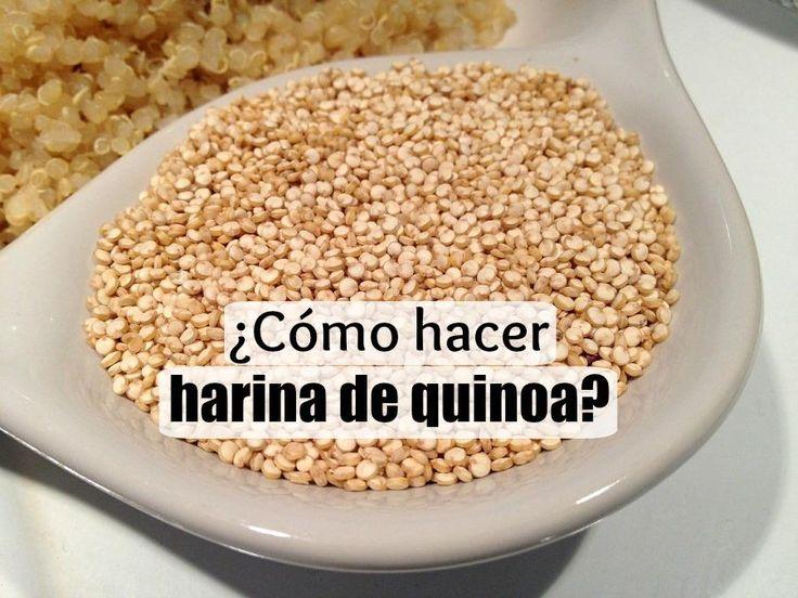 como hacer harina de quinoa                                                                                                                                                      Más